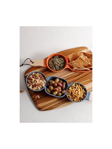Miska do serwowania z drewnianym uchwytem Classic, Szary, S 40 x T 10 cm