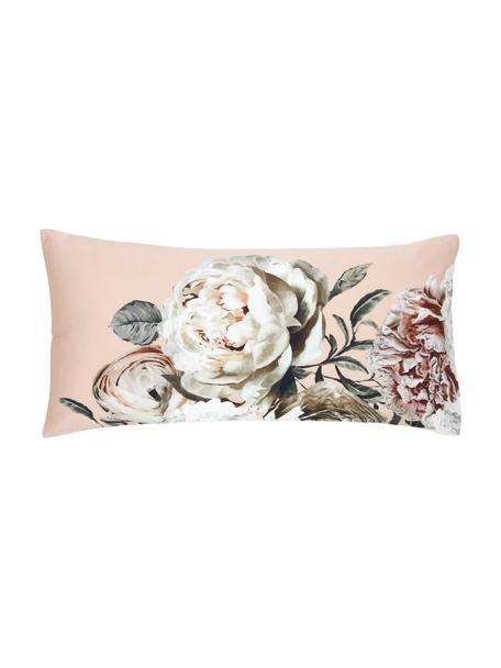 Poszewka na poduszkę z satyny bawełnianej Blossom, 2 szt., Wielobarwny, blady różowy, S 40 x D 80 cm