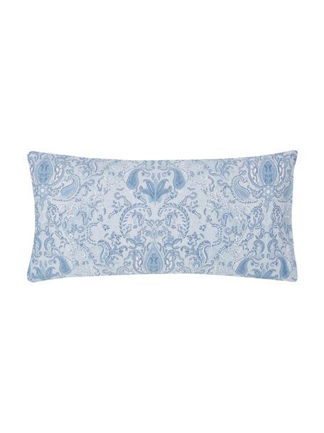Baumwollsatin-Kissenbezüge Grantham mit Paisley-Muster, 2 Stück, Webart: Satin Fadendichte 200 TC,, Blau, 40 x 80 cm