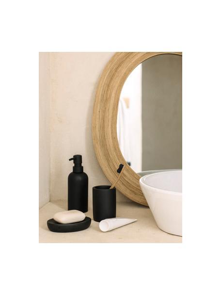 Dispenser sapone Archway, Contenitore: poliresina, Testa della pompa: materiale sintetico, Nero, Ø 7 x Alt. 19 cm
