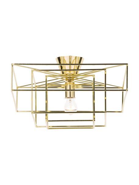 Plafón Cube, Estructura: latón pintado, Anclaje: latón pintado, Dorado, An 46 x Al 27 cm