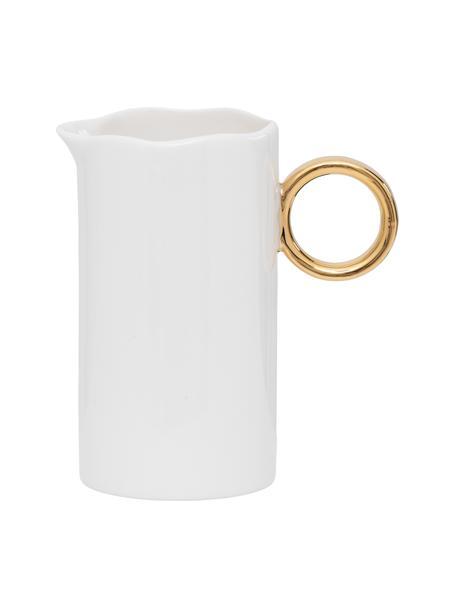 Milchkännchen Good Morning, Steingut, Weiß, Goldfarben, Ø 11 x H 6 cm