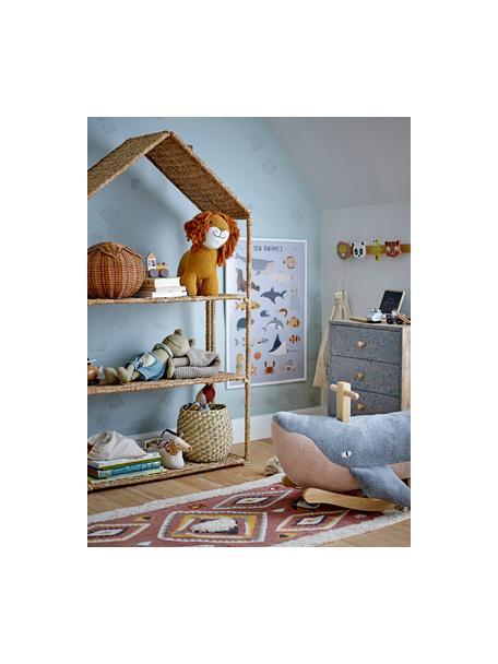 Ingelijste digitale print Cay, Frame: gecoat hout, Blauw, multicolour, 52 x 72 cm