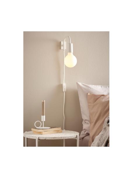Wandlamp England met stekker, Frame: gelakt metaal, Wit, 4 x 10 cm