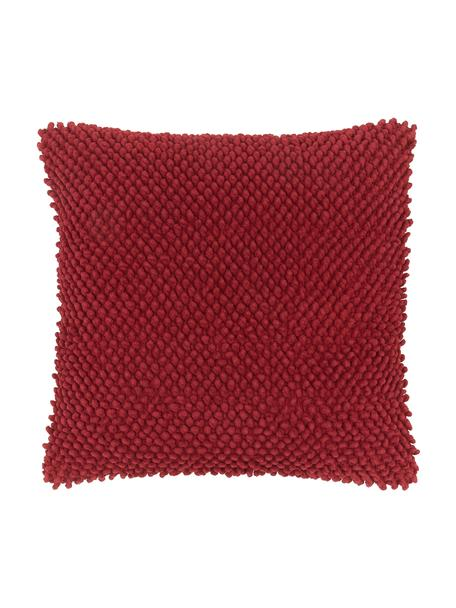 Federa arredo in cotone Indi, 100% cotone, Malva, Larg. 45 x Lung. 45 cm