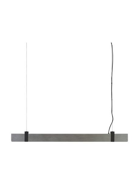 Lámpara de techo grande LED regulable Lilt, Pantalla: metal, Adornos: metal recubierto, Anclaje: metal con pintura en polv, Cable: cubierto en tela, Acero cepillado, An 115 x Al 10 cm