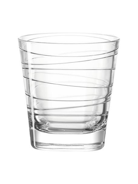 Waterglazen Vario met fijne lijnen, 6 stuks, Natriumkalkglas, Transparant, Ø 8 x H 9 cm