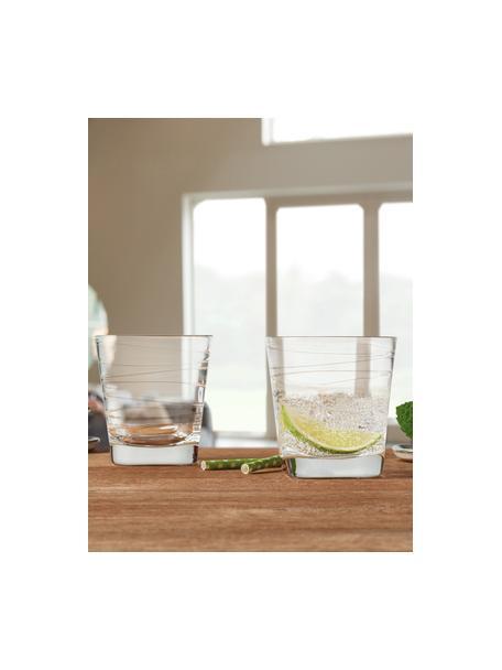 Szklanka do wody Vario, 6 szt., Szkło sodowo-wapniowe, Transparentny, Ø 8 x W 9 cm