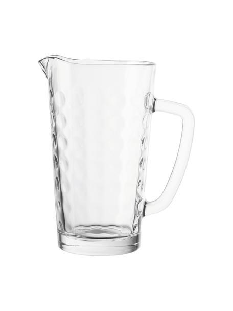 Karaf Ciao Optik met reliëf aan de binnenkant 1,2 L, Glas, Transparant, H 21 cm
