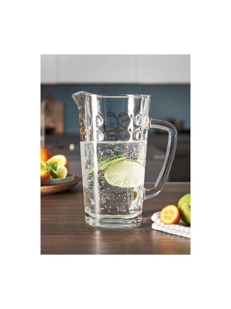 Krug Ciao Optic mit Innenrelief, 1.2 L, Glas, Transparent, H 21 cm