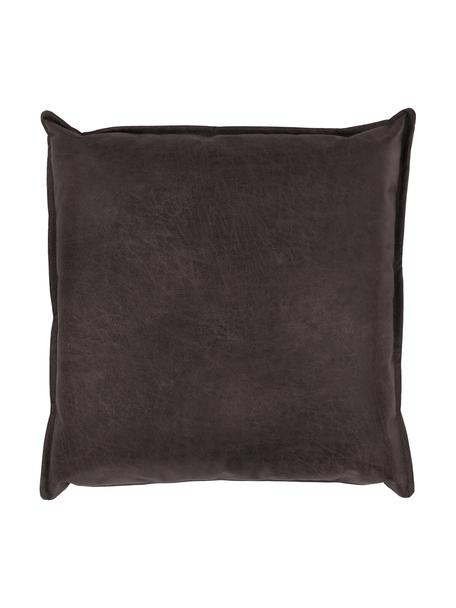 Sofa-Kissen Lennon in Braungrau aus recyceltem Leder, Bezug: Recyceltes Leder (70% Led, Leder Braungrau, 60 x 60 cm