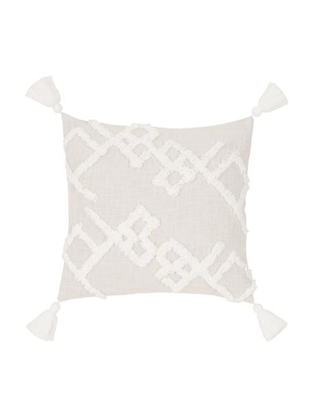 Funda de cojín texturizada Tikki, 100%algodón, Beige, An 40 x L 40 cm