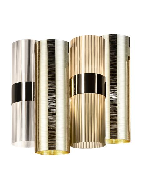 Applique in materiale sintetico La Lollo, Paralume: Lentiflex - Goldflex Mont, Dorato, Larg. 28 x Alt. 30 cm