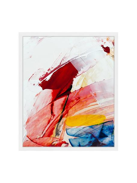 Ingelijste digitale print Abstract Art II, Afbeelding: digitale print op papier,, Lijst: gelakt hout, Multicolour, 53 x 63 cm