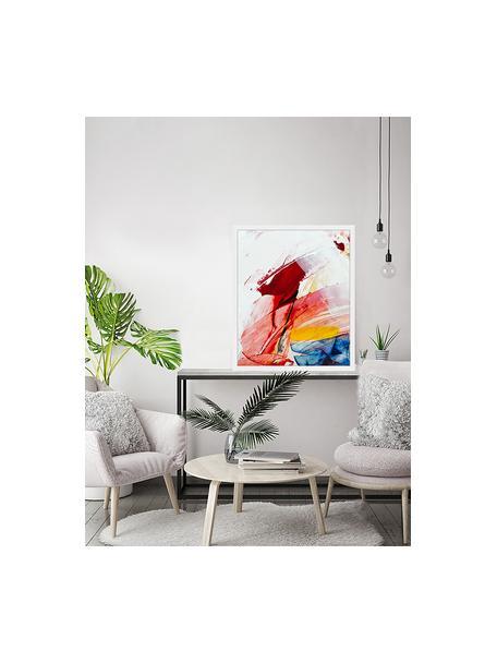 Stampa digitale incorniciata Abstract Art II, Immagine: stampa digitale su carta,, Cornice: legno verniciato, Multicolore, Larg. 53 x Alt. 63 cm