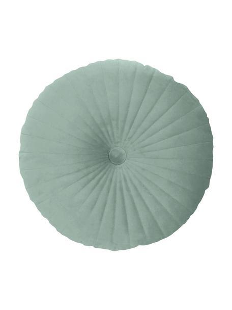 Poduszka z aksamitu z wypełnieniem Monet, Tapicerka: 100% aksamit poliestrowy, Miętowy, Ø 40 cm