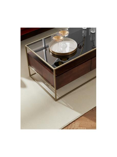 Wollen vloerkleed Ida in beige, Bovenzijde: 100% wol, Onderzijde: 60% jute, 40% polyester B, Beige, B 60 x L 110 cm (maat XS)