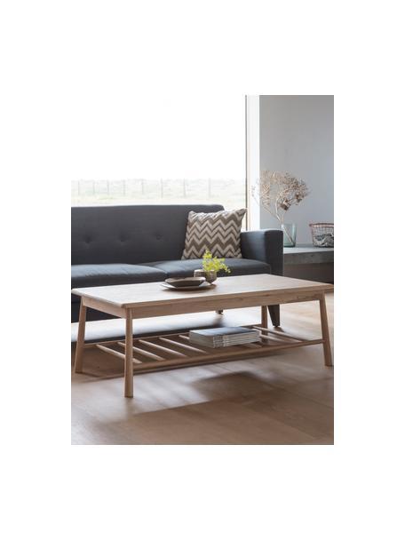 Salontafel Wycombe van eikenhout, Massief eikenhout, MDF met eikenhoutfineer, Eikenhoutkleurig, 120 x 43 cm