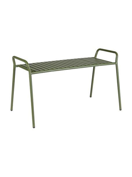 Grüne Sitzbank Dalya, Stahl, pulverbeschichtet, Grün, 88 x 51 cm