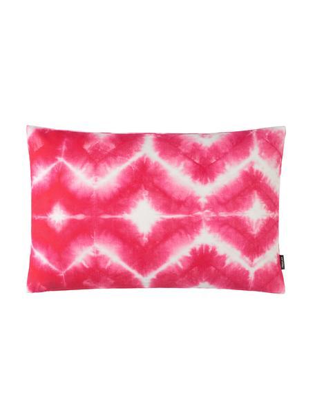 Kussenhoes Caracas met batikprint in roze, 100% katoen, Roze, 40 x 60 cm