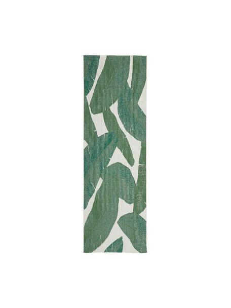 Alfombra de interior/exterior Jungle, 86% polipropileno, 14% poliéster, Blanco, verde, An 80 x L 250 cm