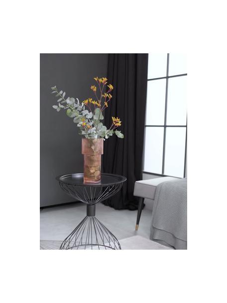 Glazen vaas Lija, Glas, Amberkleurig, transparant, Ø 14 x H 30 cm