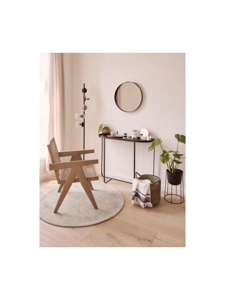Lámpara de pie Casey, estilo industrial, Cable: cubierto en tela, Negro, Ø 40 x Al 170 cm