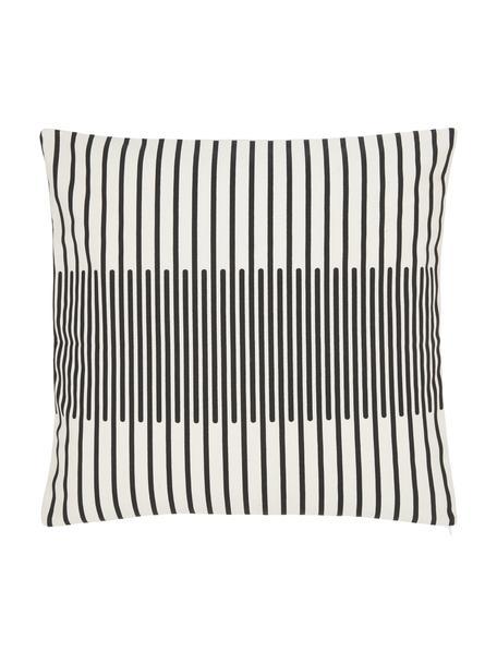 Federa arredo fantasia color nero/bianco crema Zella, 100% cotone, Bianco, nero, Larg. 45 x Lung. 45 cm