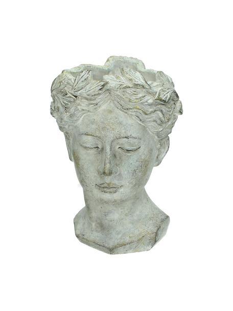 Portavaso di design in cemento Pass, Cemento, Grigio con finitura antica, Larg. 16 x Alt. 22 cm