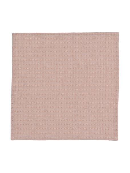 Stoffen servetten Napel, 4 stuks, Katoen, Bruin, 40 x 40 cm