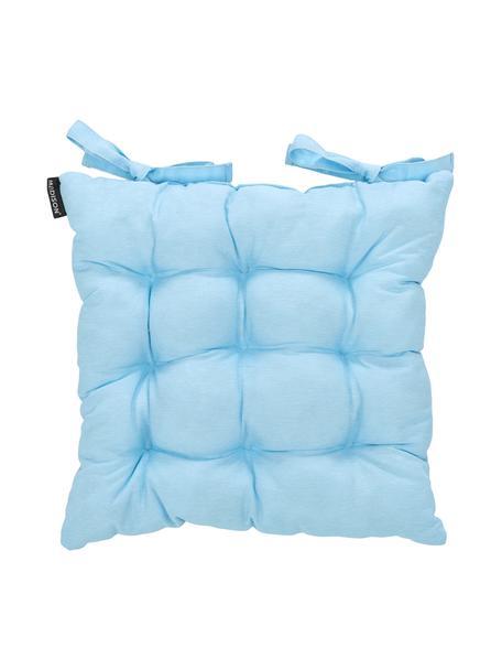 Einfarbiges Sitzkissen Panama in Hellblau, Bezug: 50% Baumwolle, 45% Polyes, Hellblau, 45 x 45 cm