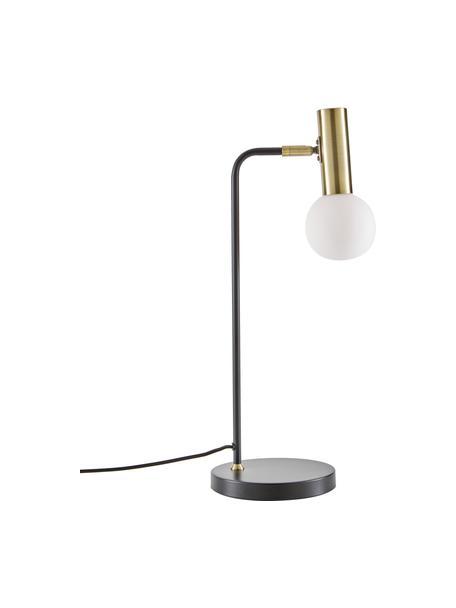 Lampa biurkowa ze szklanym kloszem Wilson, Czarny, Ø 22 x W 54 cm
