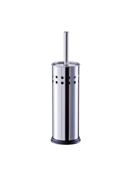 Szczotka toaletowa z pojemnikiem ze stali szlachetnej Tinni, Stal szlachetna, Stal szlachetna, Ø 10 x W 39 cm