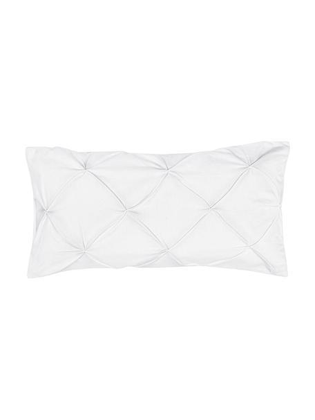 Baumwollperkal-Kissenbezüge Brody mit Biesen-Verzierung, 2 Stück, Webart: Perkal Fadendichte 200 TC, Weiß, 40 x 80 cm