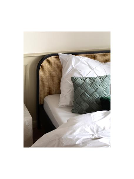 Poszewka na poduszkę z perkalu ze strukturalnym zdobieniem Brody, 2 szt., Biały, S 40 x D 80 cm