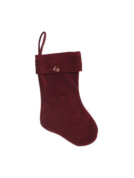 Skarpeta świąteczna Mistle, Bawełna, Czerwony, S 23 x W 39 cm