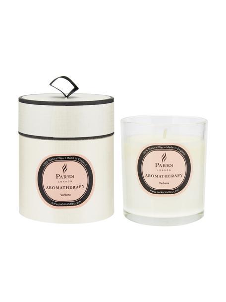 Duftkerze Aromatherapy (Verbene), Behälter: Glas, Weiß, Ø 8 x H 9 cm