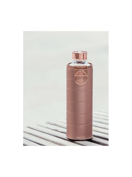 Drinkfles Mismatch, Fles: borosilicaatglas, Deksel: edelstaal, tritan (kunsts, Koperkleurig, transparant, Ø 8 x H 26 cm