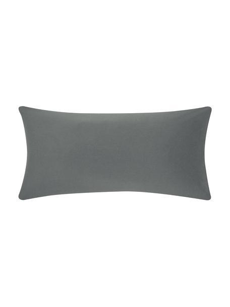 Poszewka na poduszkę ze skóry z flaneli Biba, 2 szt., Szary, S 40 x D 80 cm
