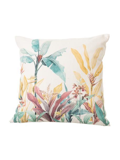 Cuscino con imbottitura Leaves, Rivestimento: 83% poliestere, 13% coton, Multicolore, Larg. 45 x Lung. 45 cm