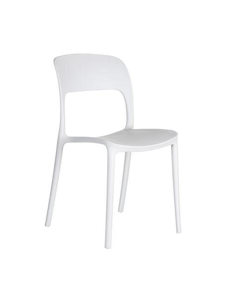 Sedia impilabile in plastica Valeria, Materiale sintetico (PP), Bianco, Larg. 43 x Prof. 43 cm