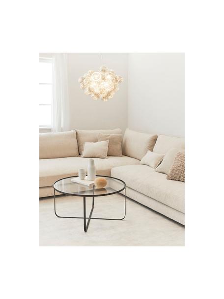 Lampada a sospensione con sfere di vetro Gross, Baldacchino: nichel cromato, Ambrato, Ø 50 cm