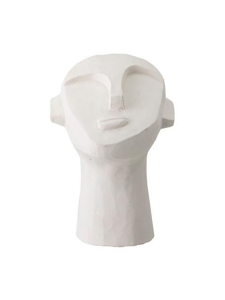 Deko-Objekt Man, Beton, bemalt, Weiss, 18 x 22 cm