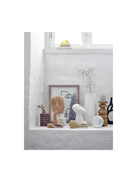 Dekoracja Man, Beton malowany, Biały, S 18 x W 22 cm