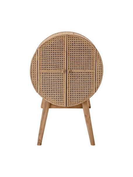 Cassettiera piccola beige Otto, Rattan, legno di abete, pannello di fibra a media densità (MDF), Beige, Larg. 52 x Alt. 80 cm