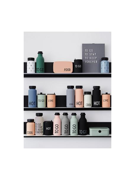 Botella termo de diseño TO GO, Botella: tritan (plástico), libre , Azul claro, negro, Ø 8 x Al 20 cm