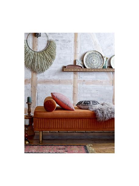 Diván de terciopelo Hailey, Tapizado: terciopelo de poliéster, Patas: madera de roble, metal, Terciopelo marrón rojizo, An 190 x F 80 cm