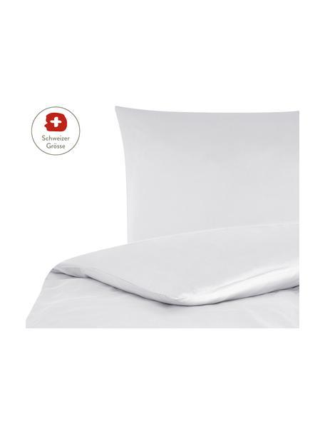 Baumwollsatin-Bettdeckenbezug Comfort in Hellgrau, Webart: Satin, leicht glänzend Fa, Hellgrau, 160 x 210 cm