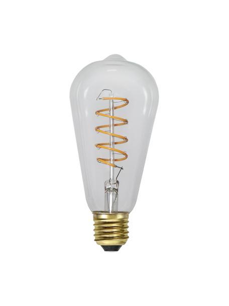 E27 Leuchtmittel, 4W, dimmbar, warmweiß, 1 Stück, Leuchtmittelschirm: Glas, Leuchtmittelfassung: Aluminium, Transparent, Ø 6 x H 14 cm