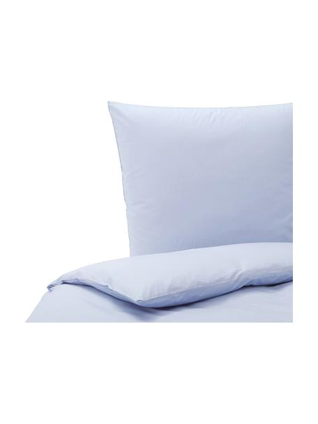 Pościel z bawełny Weekend, Jasny niebieski, 155 x 220 cm + 1 poduszka 80 x 80 cm